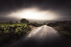 freddie-photography:  Choose the Road more Dramatic -Exmoor...