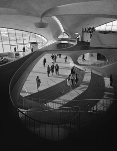 Eero Saarinen: TWA Terminal at Idlewild  Airport.  New York, 1962 (by Ezra Stoller).Source:loverofbeauty