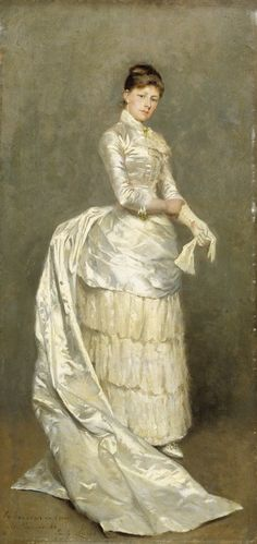 Portrait of Mrs. Claus in Her Wedding Dress 1886 Emile Claus