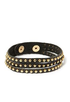 Studded Genuine Leather Bracelet | Forever 21 - 1000131986