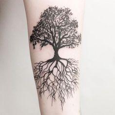 tattoo tree roots \ tattoo tree + tattoo tree of life + tattoo tree of life woman + tattoo tree small + tattoo tree men + tattoo tree arm + tattoo tree roots + tattoo tree of life men Tree Tattoo Meaning, Tree Roots Tattoo, Tree Tattoo Arm, Forearm Tattoos, Tattoos With Meaning, Back Tattoo, Tattoo Forearm, Tree Sleeve Tattoos, Celtic Tree Tattoos