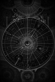 Wright's celestial map of the universe - original