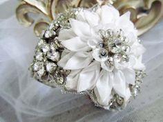 Bridal Wedding Cuff by CloeNoel on Etsy
