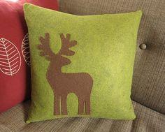 Just Crafty Enough – Iron Craft Challenge – Reindeer Pillow Christmas Deer, Christmas Pillow, Handmade Christmas, Green Christmas, Christmas Time, Handmade Pillows, Diy Pillows, Throw Pillows, Cushion Inspiration