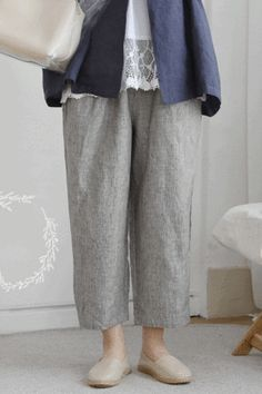 BOTTOM - 레아린넨 Pants Pattern, Asian Style, Boho, Sewing, Stylish, Outfits, Fashion, Funky Clothing, Models