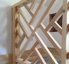Wood Dog Gate - Ideas on Foter Baby Gates, Dog Gates, Diy Baby Gate, Wood Baby Gate, Pet Gate, Building A Porch, Building Plans, Deck Railings, Loft Railing