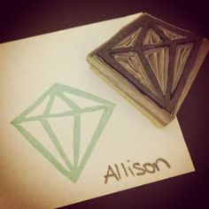 nice people STAMP!: UNDEFINED Diamond Hand Carved Stamp - by Allison Okamitsu