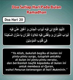 Doa hari 20 Ramadhan