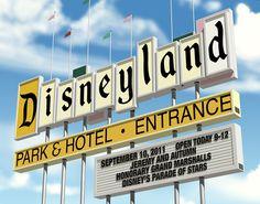 Disneyland Sign Fantasign personalized art  created for the Walt Disney Company. #disney #fantasigns #rossstudio #digitalart #personalized #disneyland