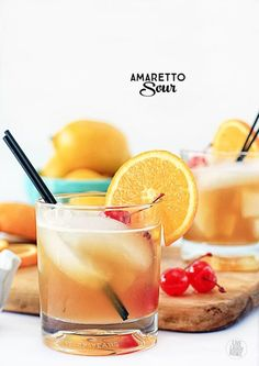 An all-time favorite of mine, the Amaretto Sour. www.livelaughrowe.com