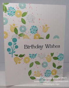 Masking, Bright Blossoms,  SUO,  Stampin Up,   Susanstamps.wordpress.com