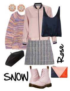 """Snow Rose."" by babett-beattie on Polyvore featuring Mode, Michael Kors, Miu Miu, Miss Selfridge, 3.1 Phillip Lim, Clare V., Dr. Martens, BillyTheTree und Accessorize"