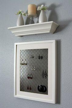 10 Creative DIY Projects.... like . . . prefer narrow shelf . .