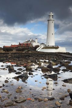 Whitley Bay Northumberland England St Marys Lighthouse Canvas Art - John Short Design Pics x Northumberland England, North East England, Wanderlust, Beacon Of Light, Newcastle, Places To See, Beautiful Places, Around The Worlds, Vacation