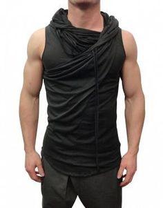 Delusion Clothing Trapeze Vest Black (Delusion Clothing ) (T-Shirts) Casual Wear, Men Casual, Casual Shirt, Mens Fashion 2018, Fashion 2016, Fashion Women, Cyberpunk Fashion, Mode Masculine, Mode Style