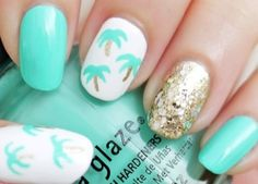 Palm trees and glitter. Too cute!