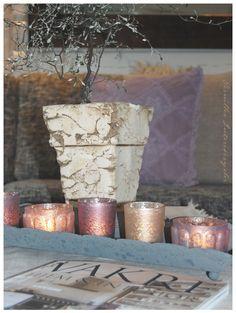 PERNILLES INTERIØRSYSLER! Pillar Candles, Candle Holders, Porta Velas, Chandelier, Taper Candles, Candlesticks