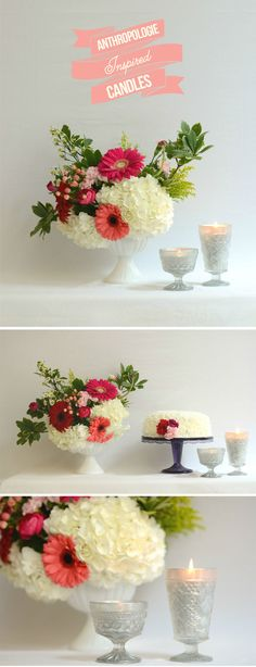 DIY Anthropologie Inspired Candles! EASY + cute! with step-by-step pictures!