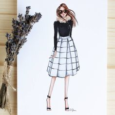 Style of Brush by Gizem Kazancıgil gizem kazancigil Dress Design Sketches, Fashion Design Sketchbook, Fashion Design Drawings, Fashion Sketches, Dress Illustration, Fashion Illustration Dresses, Fashion Drawing Dresses, Fashion Dresses, Fashion Moda