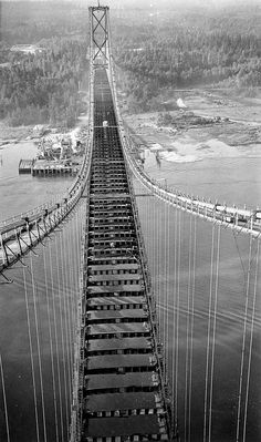 Construction, Lion's Gate Bridge 1938      Gordon, Audrey | by vancouverbyte