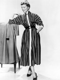 Comes from the movie The Desk Set, that has lovely 'working girl' fashion from the late 50's, but is reminiscent to me of the late 40's.