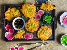 These crispy kimchi pancakes are packed with spicy kimchi and fresh shrimp, and can be served as a fantastic appetizer, snack, or light dinner.