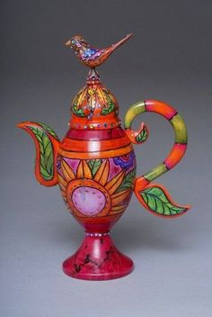 Colorful teapot - how cool is that!!