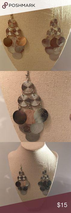 Fashion Jewelry Earrings Silver color fashion earrings. 3.5 inches long. Jewelry Earrings