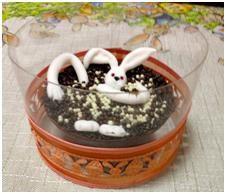 Ofurô com coelho 200g. Chocolate Belga R$27,00