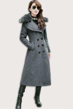 Double-breasted Slim Military Coat - OASAP.com