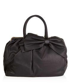 Valentino Red Scalloped bow leather bag in black, Designer Bags Sale, Outlet, Secret Sales