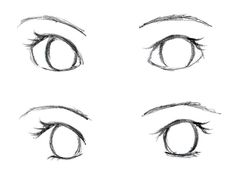 anime eyes with no pupils