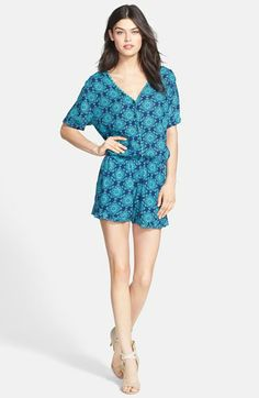 Ella Moss 'Moselle' Tile Print Romper available at #Nordstrom