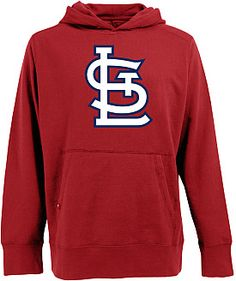 af38d4b95 Antigua Men s St. Louis Cardinals Signature Hood Applique Pullover  Sweatshirt  giftofsport Cardinals Baseball