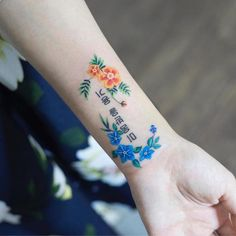 Les délicats tatouages floraux colorés de Zihee 2Tout2Rien