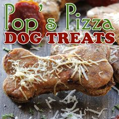 Homemade Dog Food Pop's Pizza Homemade Dog Treats - The Cottage Market - Do you have a doggie best friend that loves your pizza? Well why not make him/her some yummy Pop's Pizza Homemade Dog Treats today Dog Biscuit Recipes, Dog Treat Recipes, Dog Food Recipes, Pizza Dog Treat Recipe, Food Tips, Easy Recipes, Healthy Recipes, Homemade Dog Treats, Healthy Dog Treats