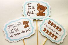 Kit Bebê - Plaquinha para Chá de Bebê - 10 unid | Confeitaria de Convites