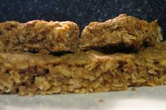 Best Simple Homemade Granola Bars  Ingredients:  4 1/2 cups rolled oats  1 cup flour (I used whole wheat)  1 cup butter, softened   1 teaspoon vanilla  1 cup honey  1 tablespoon cinnamon  1 teaspoon baking soda