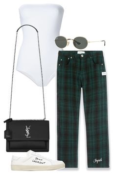 """""""Untitled"""" by whoiselle ❤ liked on Polyvore featuring ONIA, Joyrich, Yves Saint Laurent and Ray-Ban"""