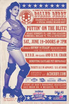 Great roller derby poster!