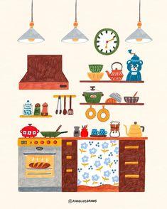 Bread is almost done! Stuart Little, Kitchen Drawing, Posca Art, Illustration Noel, Illustrator, Poster S, Grafik Design, Illustrations And Posters, Cute Art