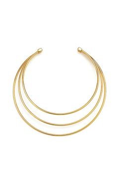 Three-Strand Wire Collar Choker Necklace