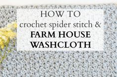 Basics :: How To Crochet the Spider Stitch ~ free tutorial by Jessica of  Mama In A Stitch