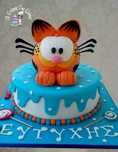 Garfield cake. #Provestra #Skinception #coupon code nicesup123
