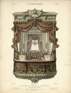 Theatre Loge from the House of E. Drouet  French Decorative Arts lithograph
