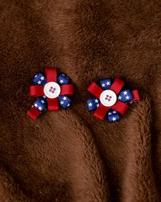 Fourth of July Hair Bows  Red White and Blue by SpoiledLittleDiva, $4.00