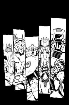 #Transformers Vs Rom 5 and Lost Light 11 Inks and Color Covers by Nick Roche