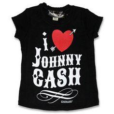 Rock and Roll Kids' Gifts - Sourpuss I Heart Johnny Cash Ruffle Tee