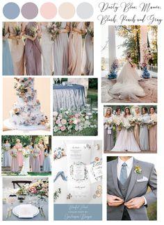 Blush And Grey Wedding, Blush Wedding Theme, Wedding Color Pallet, Mauve Wedding, Color Palette For Wedding, Wedding Colour Themes, Peach Wedding Theme, Wedding Color Combinations, June Wedding Colors