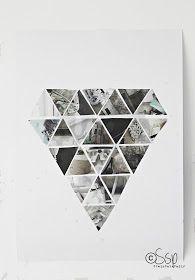 Har du sett alle de fine geometriske formene rundt omkring? Jeg har forelsket meg i trekanter og diamanter og i denne DIY`en får jeg begg...